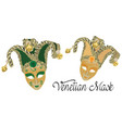 venetian masks vector image