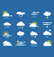 weather icon set meteo symbols pictures vector image vector image