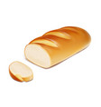 white bread loaf sliced bakery product vector image