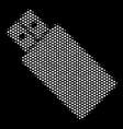 white pixel usb flash drive icon vector image vector image