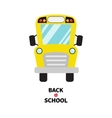 Yellow school bus kids Cartoon clipart vector image