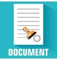 flat document icon concept design vector image