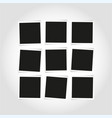 blank empty square photo frames composition vector image