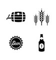 malt beer simple related icons vector image