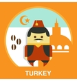 Turkish Man in National Costume vector image