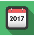 2017 calendar flat icon vector image vector image