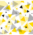abstract modern yellow black triangles pattern vector image