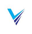 abstract v layer logo image vector image vector image