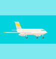 airplane side view on a blue background vector image vector image