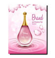 aromatic perfumes for women promo poster vector image vector image