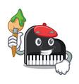 artist piano character cartoon style vector image