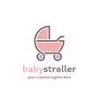 baby stroller logo vector image