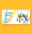 back to school background with colorful letters vector image vector image