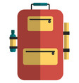 backpack icon flat isolated vector image