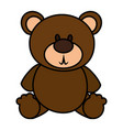 bear teddy isolated icon vector image vector image