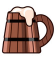 beer wooden cup icon vector image vector image