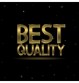 Best quality text vector image vector image