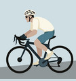 bicyclist flat style vector image vector image