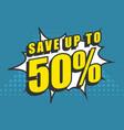 big sale pop art style vector image