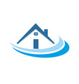 blue house community neighborhood vector image vector image