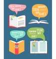 books with speech bubbles vector image vector image