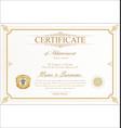 certificate 05 vector image vector image