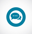 chat icon bold blue circle border vector image vector image