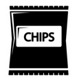 chips icon simple black style vector image vector image