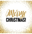 Christmas card Gold sparkles on white background vector image vector image