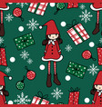 christmas holidays season seamless pattern vector image vector image