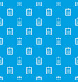 clipboard with checklist pattern seamless blue vector image vector image