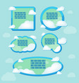 cloud frame text blue border vector image vector image