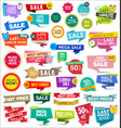 collection colorful sale stickers and tags 0623 vector image