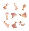 collection of fabulous fairy in magical cap vector image vector image