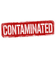 contaminated sign or stamp vector image