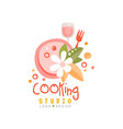 cooking studio logo design emblem can be used for vector image vector image