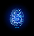 crypto currency bytecoin on brain background vector image vector image