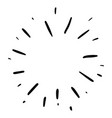 doodle design element firework hand drawn vector image vector image