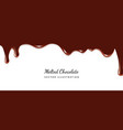 dripping melted chocolate vector image