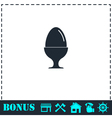 Egg On Stand icon flat vector image vector image