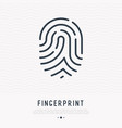 fingerprint thin line icon vector image