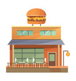 flat commercial restaurant building vector image