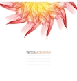 Floral abstract background orange and red vector image vector image