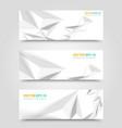 Flyer template header design vector image