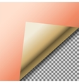 Folded up copper foil blank note paper vector image vector image