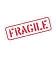 fragile grunge box signs or stamp isolated vector image vector image