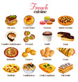 french cuisine icons vector image