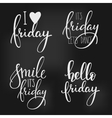Friday lettering set vector image vector image