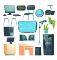 furniture for school computer classroom vector image vector image