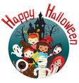 Halloween Ghosts and Children Smiling vector image vector image